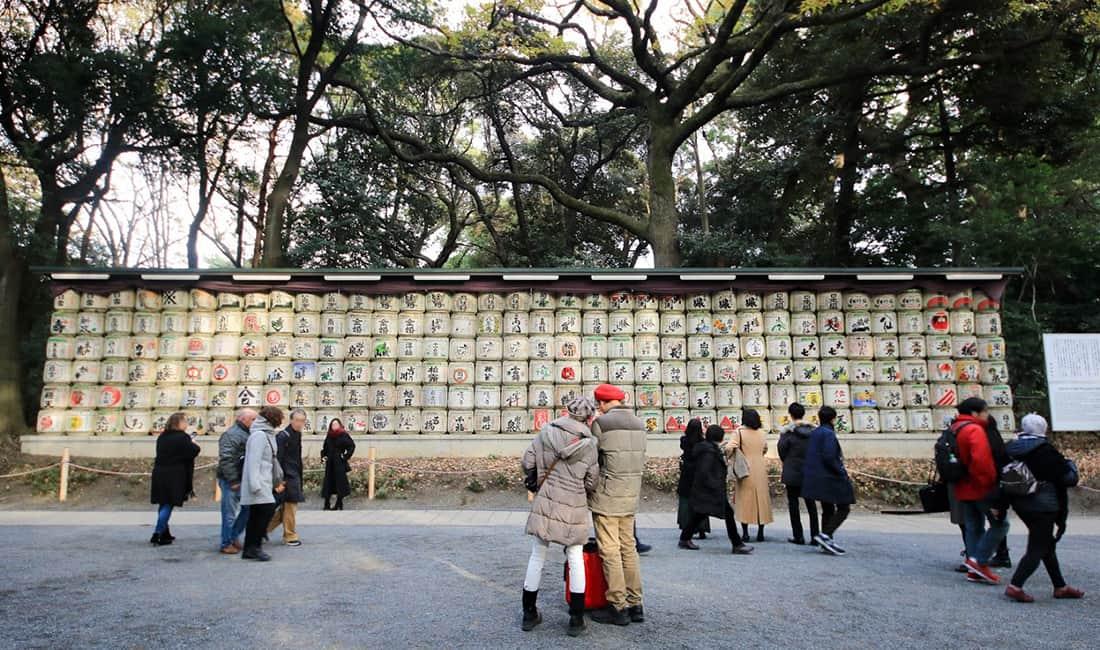明治神宮の蒲萄酒樽